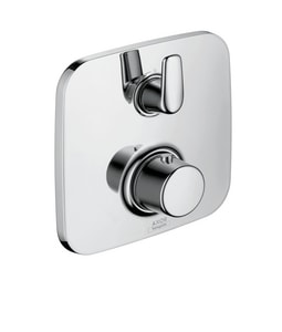 AXOR Bouroullec 6 gpm Thermostatic Trim with Volume Control and Double Lever Handle in Polished Chrome AX19704001