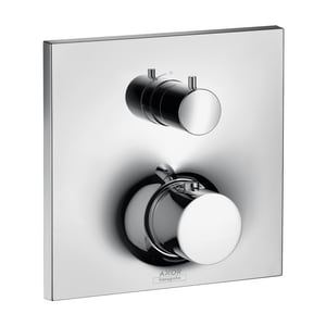AXOR Massaud 6 gpm Thermostatic Trim with Volume Control and Single Knob Handle in Polished Chrome AX18745001