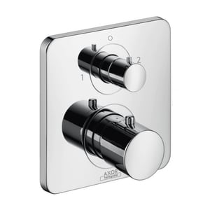 AXOR Citterio M 7 gpm Thermostatic Trim with Volume Control Trim and Double Knob Handle in Polished Chrome AX34725001