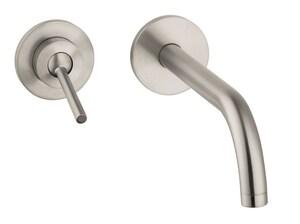 AXOR Uno Single Handle Wall Mount Bathroom Sink Faucet in Brushed Nickel AX38118821