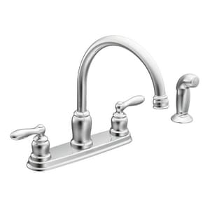 Moen Caldwell™ Two Handle Kitchen Faucet in Polished Chrome ...
