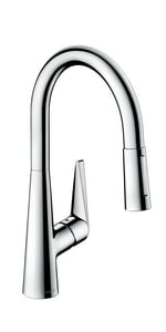 Hansgrohe Talis S Single Handle Pull Down Kitchen Faucet in Polished Chrome H72813001