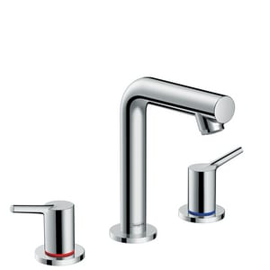Hansgrohe Talis S Two Handle Widespread Bathroom Sink Faucet in Polished Chrome H72130001