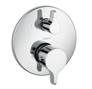 Hansgrohe S/E Thermostatic Trim with Volume Control in Polished Chrome H04352000