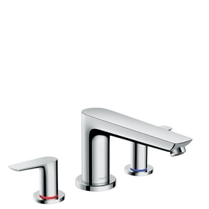 Hansgrohe Talis E 5.8 gpm 3-Hole Deck Mount Roman Tub Trim with Double Lever Handle H71747