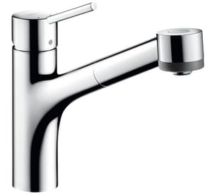 Hansgrohe Talis S Single Handle Pull Out Kitchen Faucet in Polished Chrome H06462000
