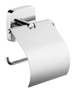 Hansgrohe PuraVida Toilet Paper Holder in <b>Polished Chrome</b> ...