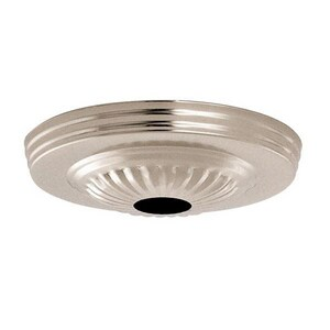 Satco 5 in. Ribbed Canopy with 11/16 in. Center Hole in Polished Chrome S901684