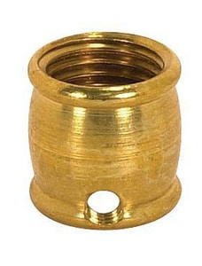 Satco 8/32 in. Brass Coupling in Burnished and Lacquered S90634