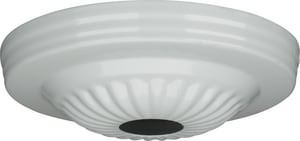 Satco 5 in. Ribbed Canopy with 11/16 in. Center Hole in White S901685