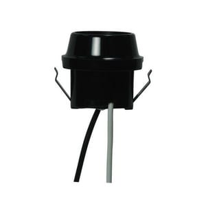 Satco Snap-In Double with Flange Rim in Black S801766
