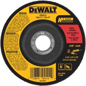 DEWALT 4-1/2 in. Grind Wheel DDW4514 at Pollardwater