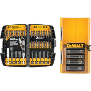 DEWALT Impact Ready® 1/4 x 1/4 x 1/4 in. Hex Driver and Phillips 38 Piece DDW2169 at Pollardwater
