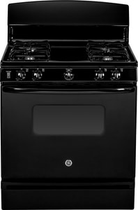 General Electric Appliances 30 in. Standard Clean Free Standing Gas Range in Black 120V GJGBS10DEFBB