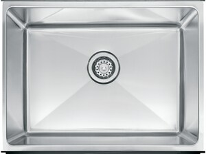 Franke Consumer Products Professional Series 25-1/2 x 17-5/8 in. Undermount Laundry Sink in Stainless Steel FPSX1102412