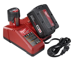 Milwaukee Multi-Voltage Charger Battery Packs M48591812