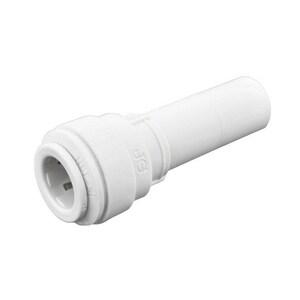 1/2 x 3/8 in. OD Stem x OD Tube 150# Polypropylene Bulkhead Reducer JPP06W
