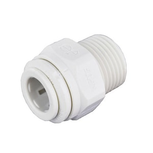 John Guest USA Speedfit® 3/8 in. OD Tube x MNPT Straight Polypropylene Single-Packed Union Connector with EPDM O-Ring Seal JPP011223WP