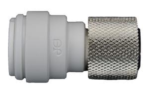 John Guest USA 1/4 x 9/16 in. Tube OD x UNEF Reducing Polypropylene Adapter JPP6008U9W