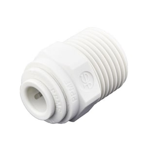 John Guest USA Speedfit® 1/4 x 3/8 in. OD Tube x MNPT Reducing Polypropylene Single-Packed Union Connector with EPDM O-Ring Seal JPP010823WP