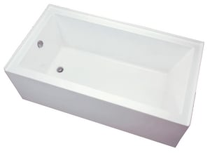 Mirabelle® Edenton™ 59-3/4 x 29-3/4 in. 3-Wall Alcove Whirlpools with Reversible Drain in White MIREDA6030LWH