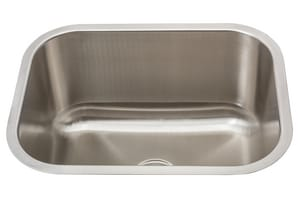 Mirabelle® Medford 23 x 17-3/4 in. Undermount Laundry Sink in Brushed Stainless Steel MIRLS2318