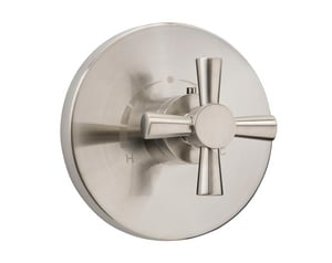 Mirabelle® Milazzo Thermostatic Valve Trim with Single Cross Handle in Brushed Nickel MIRML9009BN