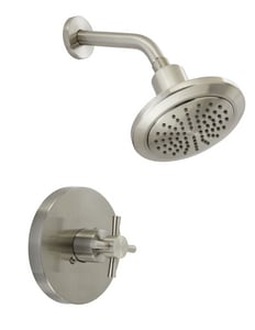 Mirabelle® Milazzo 2 gpm Trim Shower with Single Cross Handle in Brushed Nickel MIRML8020EBN