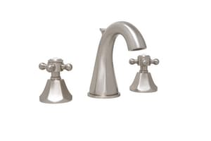 Mirabelle® Boca Raton 3-Hole Widespread Bathroom Sink Faucet with Double Cross Handle and 4-7/16 in. Spout Reach in Brushed Nickel MIRWSCBR801BN