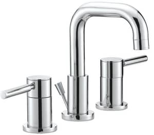 Mirabelle® Edenton™ 3-Hole Widespread Bathroom Sink Faucet with Double Lever Handle and 5 in. Spout Reach MIRWSCED800