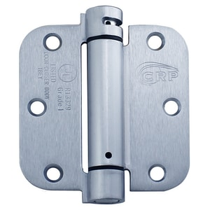 Cal-Royal 3-1/2 in. Full Mortise Spring Hinge in Satin Chrome CNEWSH3558R