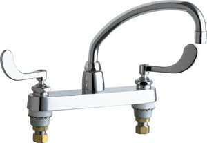 Chicago Faucet Hot and Cold Water Sink Faucet in Polished Chrome C1100L9317ABCP