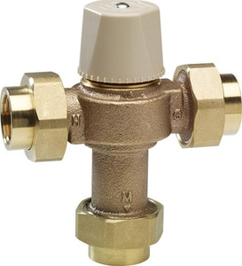Chicago Faucet 1/2 in. NPT Threaded Thermostatic Mixing Valve C122ABNF
