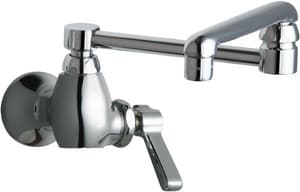 Chicago Faucet 2.2 gpm Single Lever Handle Single Supply Faucet in Polished Chrome C332DJ13ABCP