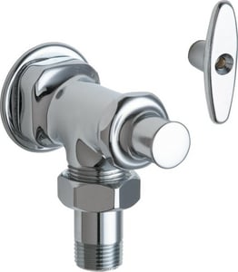 Chicago Faucet 1/2 in T-Handle Angle Supply Stop Valve in Polished Chrome C698ABCP