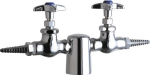 Chicago Faucet Turret with Double Valve in Polished Chrome C981937CHAGVCP