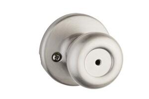 Kwikset Tylo® Metal Privacy or Bath Knob in Satin Nickel K300T156ALRCSV1