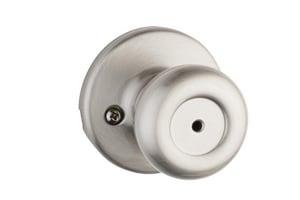 Kwikset Tylo® Metal Privacy or Bath Knob in Satin Nickel K300T156ALRCSV1