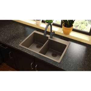 Elkay Gourmet® 33 x 22 in. No-Hole  Single Bowl Topmount Kitchen Sink in Mocha EELG250RMC0