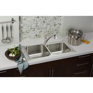 Elkay Everyday Single Handle Widespread Pull Out Kitchen Faucet in Polished Chrome ELK5000CR