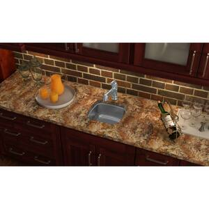 Elkay Gourmet® 14-1/8 x 14-1/8 in. Undermount Stainless Steel Bar Sink in Hammered Mirror ESCUH1212SH