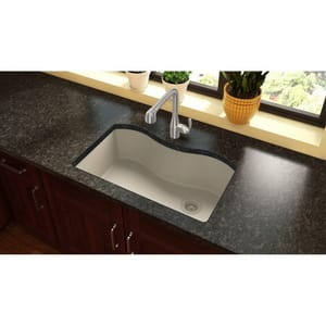 Elkay Quartz Classic® 33 x 20 in. No Hole Composite Single Bowl Undermount Kitchen Sink in Bisque EELGUS3322RBQ0