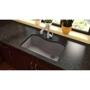 Elkay Quartz Classic® 33 x 20 in. No-Hole Single Bowl Undermount Kitchen Sink in Greige EELGUS3322RGR0