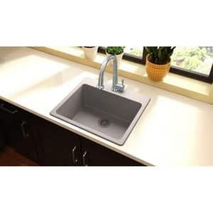 Elkay Quartz Classic® 25 x 22 in. Composite Single Bowl Drop-in Kitchen Sink in Greige EELG2522GR0