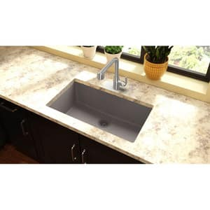 Elkay Quartz Classic® 33 x 18-7/16 in. Composite Single Bowl Undermount Kitchen Sink in Greige EELGRU13322GR0