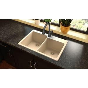 Elkay Quartz Classic® 33 x 22 in. No-Hole  Single Bowl Topmount Kitchen Sink in Sand EELG250RSD0