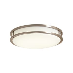 Cordelia Lighting 16.5W 4000K LED Flushmount Ceiling Fixture in Brushed Nickel CEV1410LEDBN