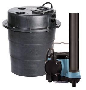 Little Giant Pump 3/10 HP 115V Sump Pump With 5 Gal Tank L506055