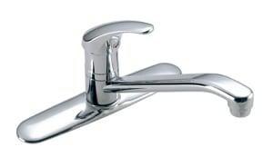 Symmons Industries Symmetrix® Single Handle Kitchen Faucet in Polished Chrome SYMS2315