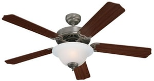 Seagull Lighting Quality Max Plus 52 x 12-3/4 in. 26 W 5-Blade Ceiling Fan in Brushed Nickel S15030BLE962